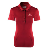 Ladies Under Armour Cardinal Performance Polo-Brooklyn College Athletic Mark