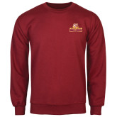 Cardinal Fleece Crew-Brooklyn College Athletic Mark