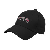Black Heavyweight Twill Pro Style Hat-Brooklyn College Arched
