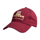 Maroon Heavyweight Twill Pro Style Hat-Brooklyn College Athletic Mark
