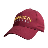 Maroon Heavyweight Twill Pro Style Hat-Brooklyn College Arched