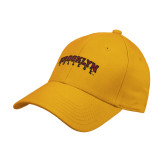 Gold Heavyweight Twill Pro Style Hat-Brooklyn College Arched