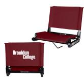 Stadium Chair Maroon-Brooklyn College