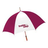 62 Inch Cardinal/White Umbrella-Official Logo