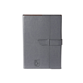 Fabrizio Junior Grey Portfolio w/Loop Closure-CUNY Shield Engraved