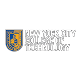 Medium Decal-New York City College Of Technology w/ Shield, 8 inches tall
