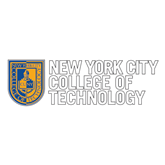 Large Decal-New York City College Of Technology w/ Shield, 12 inches tall