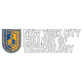 Extra Large Decal-New York City College Of Technology w/ Shield, 18 inches tall