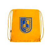 City College of Technology  Gold Drawstring Backpack-CUNY Shield
