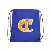 City College of Technology  Royal Drawstring Backpack-Official Logo