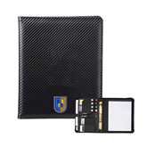 Carbon Fiber Tech Padfolio-CUNY Shield