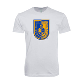 Next Level SoftStyle White T Shirt-CUNY Shield