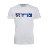 Next Level SoftStyle White T Shirt-City Tech w/Shield