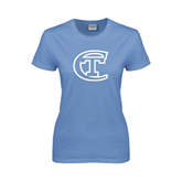 Ladies Arctic Blue T Shirt-Official Logo