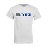 City College of Technology  White T Shirt-City Tech w/Shield