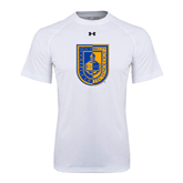 Under Armour White Tech Tee-CUNY Shield