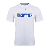 Under Armour White Tech Tee-City Tech w/Shield
