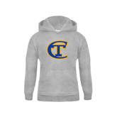 City College of Technology  Youth Grey Fleece Hood-Official Logo