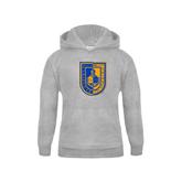 City College of Technology  Youth Grey Fleece Hood-CUNY Shield
