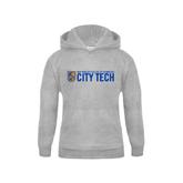City College of Technology  Youth Grey Fleece Hood-City Tech w/Shield