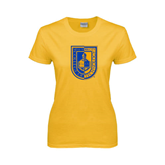 City College of Technology  Ladies Gold T Shirt-CUNY Shield
