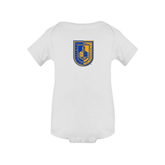 City College of Technology  White Infant Onesie-CUNY Shield