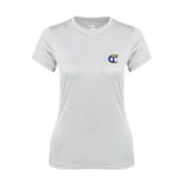 Ladies Syntrel Performance White Tee-Official Logo