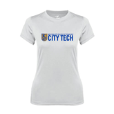 Ladies Syntrel Performance White Tee-City Tech w/Shield