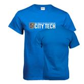 City College of Technology  Royal T Shirt-City Tech w/Shield