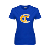 City College of Technology  Ladies Royal T Shirt-Official Logo
