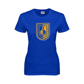City College of Technology  Ladies Royal T Shirt-CUNY Shield