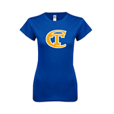 Next Level Ladies SoftStyle Junior Fitted Royal Tee-Official Logo