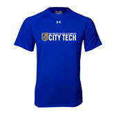 Under Armour Royal Tech Tee-City Tech w/Shield