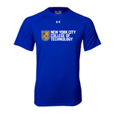 Under Armour Royal Tech Tee-New York City College Of Technology w/ Shield