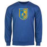 City College of Technology  Royal Fleece Crew-CUNY Shield
