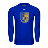 Under Armour Royal Long Sleeve Tech Tee-CUNY Shield