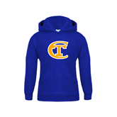 City College of Technology  Youth Royal Fleece Hoodie-Official Logo