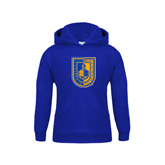 City College of Technology  Youth Royal Fleece Hoodie-CUNY Shield