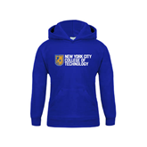 City College of Technology  Youth Royal Fleece Hoodie-New York City College Of Technology w/ Shield