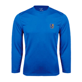 City College of Technology  Performance Royal Longsleeve Shirt-CUNY Shield