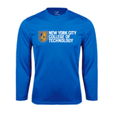 City College of Technology  Performance Royal Longsleeve Shirt-New York City College Of Technology w/ Shield