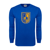 Royal Long Sleeve T Shirt-CUNY Shield
