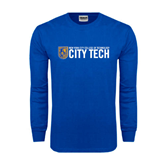 Royal Long Sleeve T Shirt-City Tech w/Shield