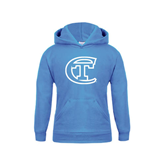 City College of Technology  Youth Light Blue Fleece Hoodie-Official Logo