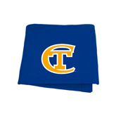 City College of Technology  Royal Sweatshirt Blanket-Official Logo