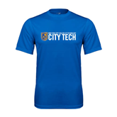 City College of Technology  Performance Royal Tee-City Tech w/Shield