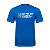 City College of Technology  Performance Royal Tee-New York City College Of Technology w/ Shield