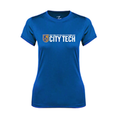 Ladies Syntrel Performance Royal Tee-City Tech w/Shield