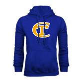 City College of Technology  Royal Fleece Hoodie-Official Logo