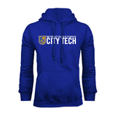 City College of Technology  Royal Fleece Hoodie-City Tech w/Shield